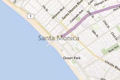 Santa Monica Neighborhood Map