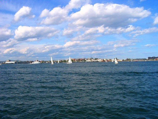 Sailboats in South Boston