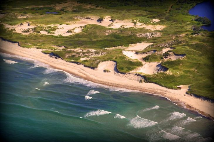 Aerial View Kennedy compound aquinnah Martha's Vineyard