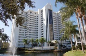 St Lucia condominium building in Pelican Bay
