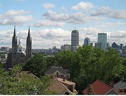 Viw of Boston Skyline from Mission Hill