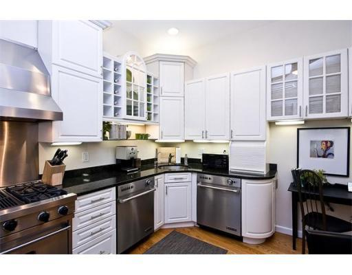 Back Bay Real Estate with full overlay cabinets