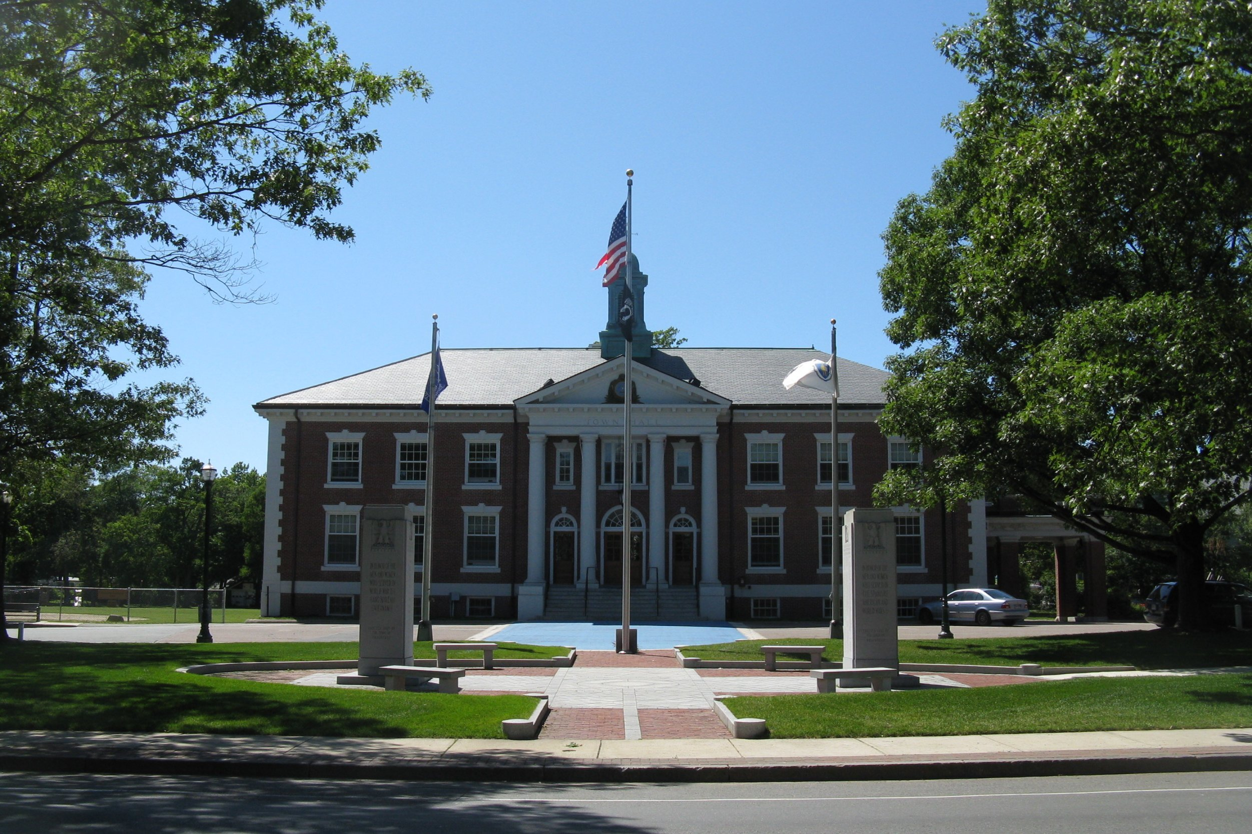 Town Hall Building in Braintree MA