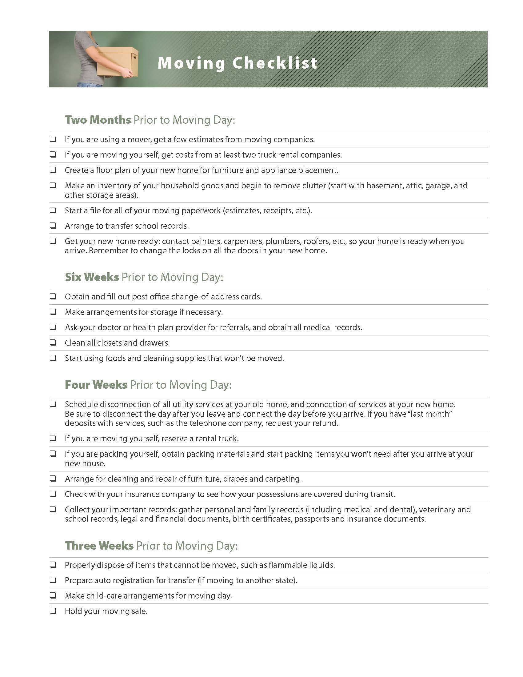 Moving Checklist – Moving Checklist