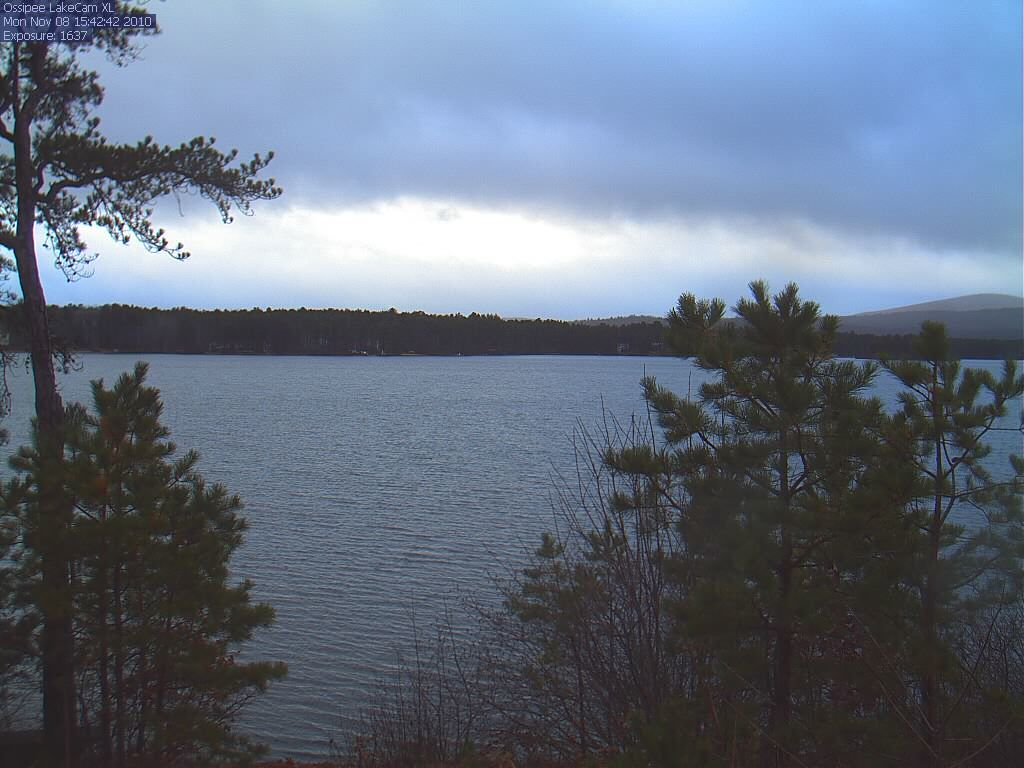 Ossippee Lake webcam view