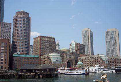 Amazing waterfront view of Boston's Seaport District