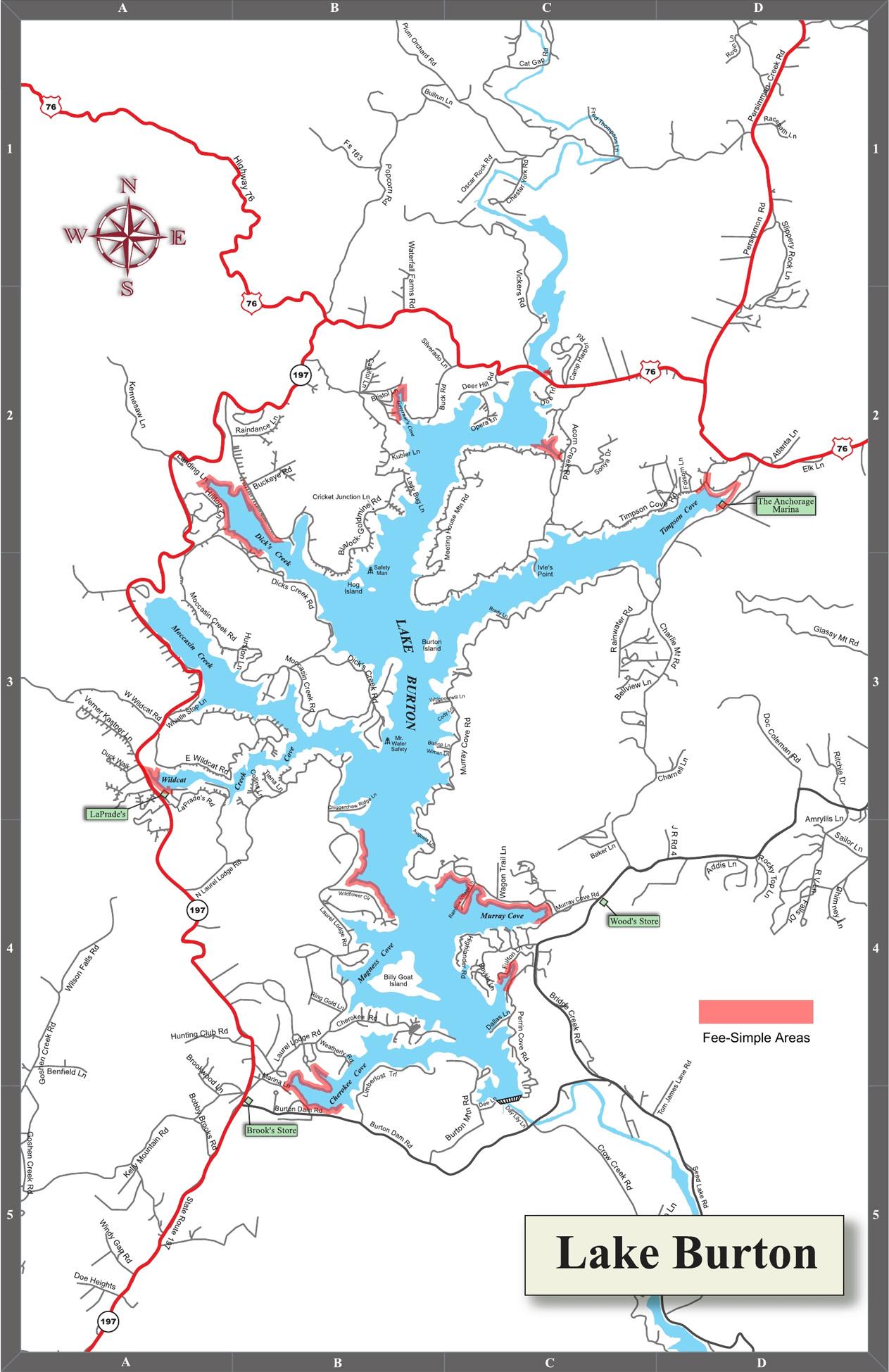 Lake Burton Ga Map My Blog
